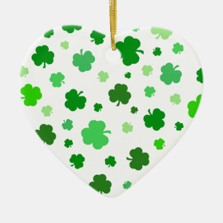 Green Irish Shamrocks Christmas Ornament