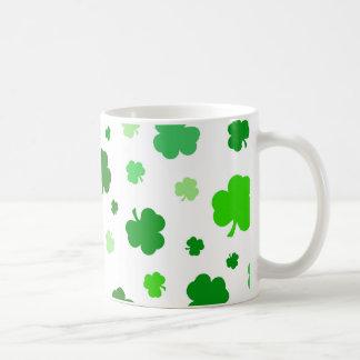 Green Irish Shamrocks Coffee Mug