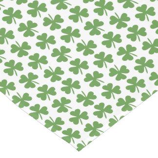 Green Irish Shamrocks Pattern Short Table Runner