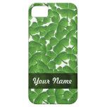 Green Irish shamrocks personalised iPhone 5 Cover