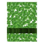 Green Irish shamrocks personalised Postcard