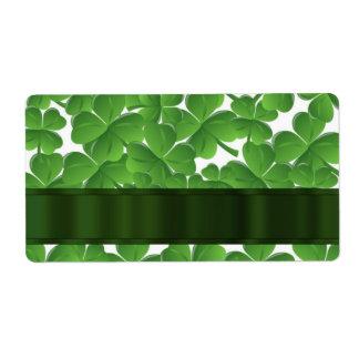 Green Irish shamrocks personalized