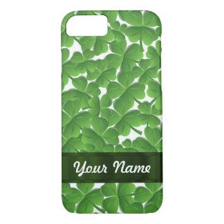 Green Irish shamrocks personalized iPhone 8/7 Case