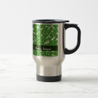 Green Irish shamrocks personalized Travel Mug
