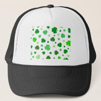 Green Irish Shamrocks Trucker Hat