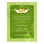 Green Irish Wedding Save the Date Postcards