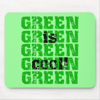 GREEN is cool Mousepads