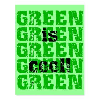 GREEN is cool Postcard