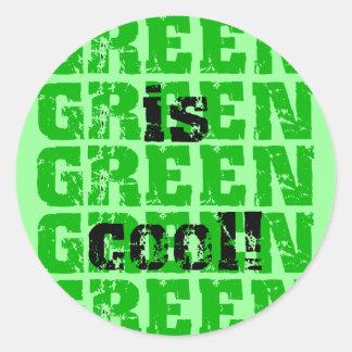 GREEN is cool Round Sticker