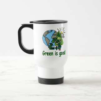 Green Is Good Travel Mug