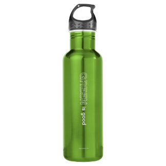 Green Is Good Water Bottle