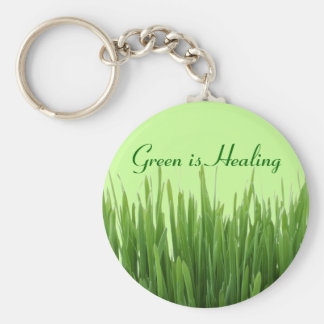 green is healing keychain