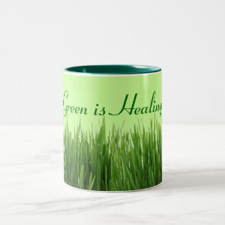 green is healing mug