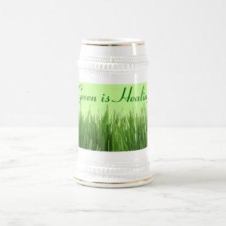 green is healing stein beer steins