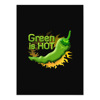 Green is HOT 17 Cm X 22 Cm Invitation Card