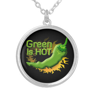 Green is HOT Round Pendant Necklace