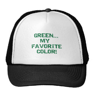 Green Is My Favorite Color Trucker Hat
