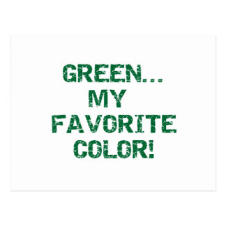 Green Is My Favorite Color Postcard