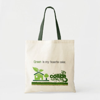 Green is my Favorite Color Tote Budget Tote Bag