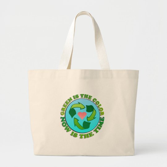Green is the Colour Canvas Tote Bag