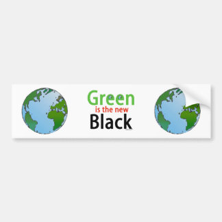 Green Is The New Black Bumper Sticker