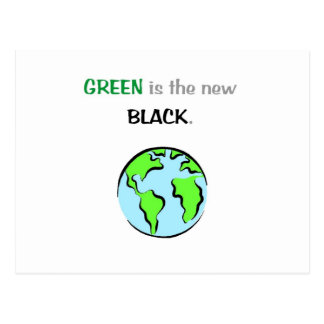 Green is the new black post cards
