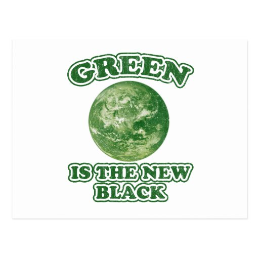Green is the new black postcards