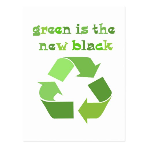 Green is the new Black! Postcards