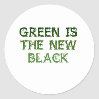 Green Is The New Black Round Sticker
