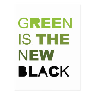 GREEN IS THE NEW BLACK SOLID POSTCARDS