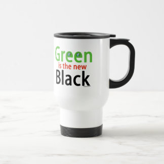 Green Is The New Black Stainless Steel Travel Mug