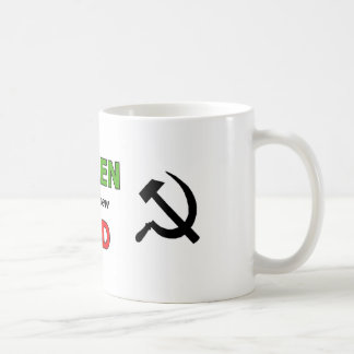 Green is the new Red with black symbols Coffee Mugs