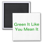 Green It Like You Mean It Refrigerator Magnets