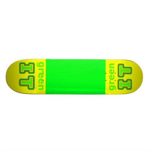 green IT The MUSEUM gibsphotoart 20.6 Cm Skateboard Deck