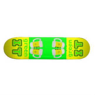 green IT The MUSEUM gibsphotoart Beer Glasses Skate Deck