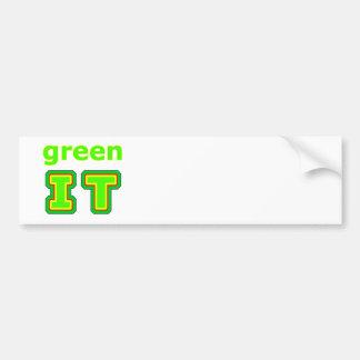 green IT The MUSEUM gibsphotoart Bumper Stickers