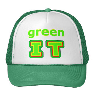 green IT The MUSEUM gibsphotoart Trucker Hat
