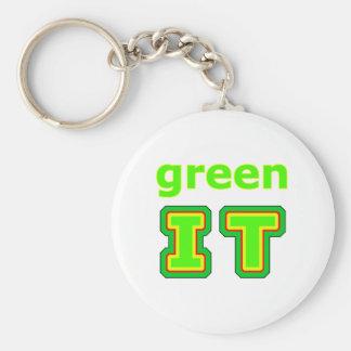 green IT The MUSEUM gibsphotoart Keychain