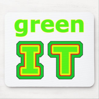 green IT The MUSEUM gibsphotoart Mousepad