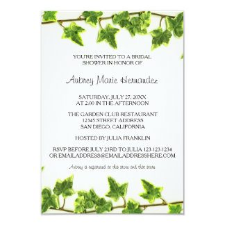 Green Ivy - 3x5  Bridal Shower Invitation