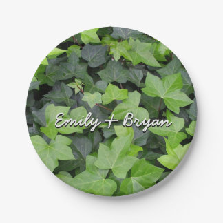Green Ivy 7 Inch Paper Plate