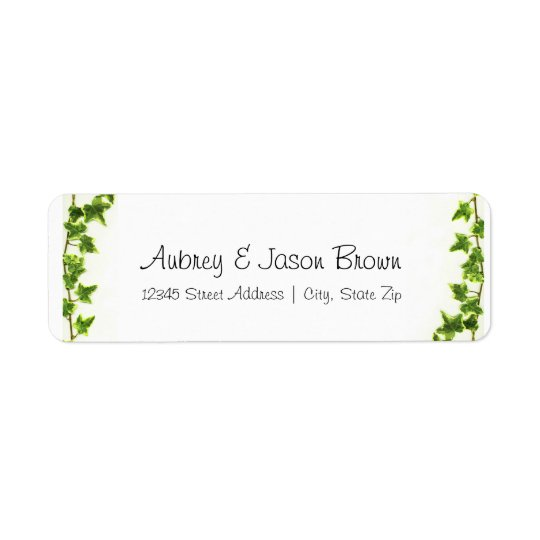 Green Ivy - Address Labels