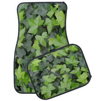 Green Ivy Botanical Print Car Mat