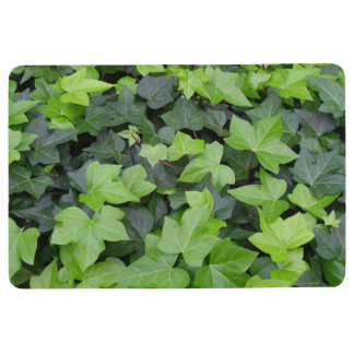 Green Ivy Botanical Print Floor Mat