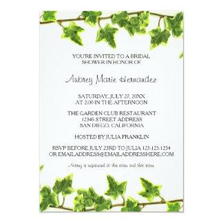 Green Ivy - Bridal Shower Invitation