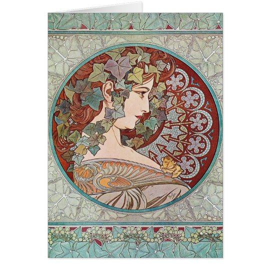 Green Ivy Goddess Art Card