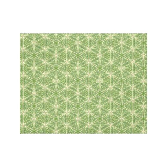Green Ivy Leaf Geometric Design Canvas