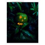 Green Jack O Lantern Halloween Card BIG