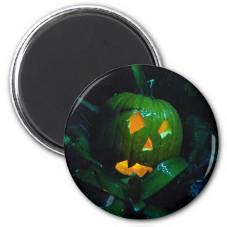 Green Jack O Lantern Fridge Magnets
