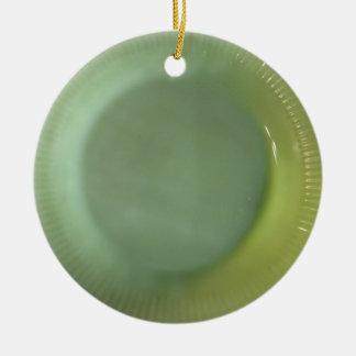 Green Jadeite Plate Christmas Ornament